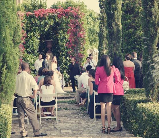 Arco natural para boda